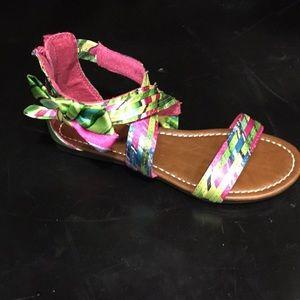 Sz 1 Multicolor Cloth Sandal